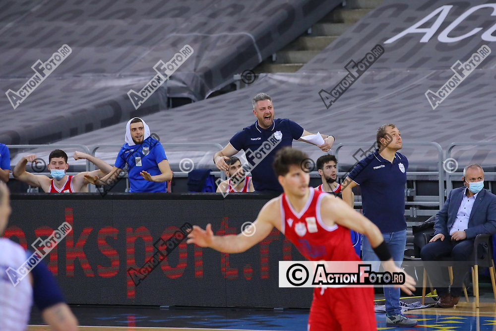 Meciul dintre CSA Steaua Bucuresti si CSM Galati în Turneul 9 al Ligii Nationale de Baschet Masculin, duminica 28 martie 2021, la BT Arena din Cluj-Napoca. © Action Foto / Marius Romila Unauthorized use is prohibited. All rights reserved.