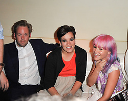 Left to right, SAM COOPER, LILY ALLEN and JAIME WINSTONE at a party to launch Esquire magazine's June issue hosted by new editor Alex Bilmes at Sketch, Conduit Street, London on 5th May 2011.