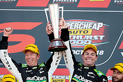 October 7, 2018 - Bathurst, NSW, U.S. - BATHURST, NSW - OCTOBER 07: Race Winner Craig Lowndes / Steven Richards in the Autobarn Lowndes Racing Holden Commodore at the Supercheap Auto Bathurst 1000 V8 Supercar Race at Mount Panorama Circuit in Bathurst, Australia. (Photo by Speed Media/Icon Sportswire) (Credit Image: © Speed Media/Icon SMI via ZUMA Press)