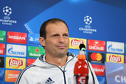 October 17, 2017 - Turin, Piedmont, Italy - Massimiliano Allegri, head coach of Juventus FC, speaks during the Juventus FC press conference on the eve of the UEFA Champions League (Group D) match between Juventus FC and Sporting CP at Allianz Stadium on 17 October, 2017 in Turin, Italy. (Credit Image: © Massimiliano Ferraro/NurPhoto via ZUMA Press)