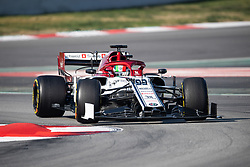 February 28, 2019 - Montmelo, BARCELONA, Spain - CATALONIA, BARCELONA, SPAIN, 28 February. #99 Antonio GIOVINAZZI driver of Alfa Romeo Racing during the winter test at Circuit de Barcelona Catalunya. (Credit Image: © AFP7 via ZUMA Wire)