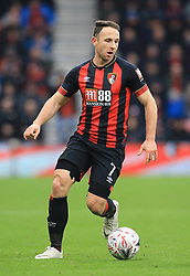 """Bournemouth's Marc Pugh during the Emirates FA Cup, third round match at the Vitality Stadium, Bournemouth. PRESS ASSOCIATION Photo. Picture date: Saturday January 5, 2019. See PA story SOCCER Bournemouth. Photo credit should read: Mark Kerton/PA Wire. RESTRICTIONS: EDITORIAL USE ONLY No use with unauthorised audio, video, data, fixture lists, club/league logos or """"live"""" services. Online in-match use limited to 120 images, no video emulation. No use in betting, games or single club/league/player publications."""