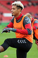 Charlton Athletic forward Lyle Taylor (9) in warm up during the EFL Sky Bet League 1 match between Barnsley and Charlton Athletic at Oakwell, Barnsley, England on 29 December 2018.