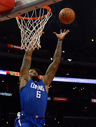 October 21, 2017 - Los Angeles, California, U.S. - Los Angeles Clippers center DeAndre Jordan slam dunks against the Phoenix Suns in the second half during an NBA basketball game at the Staples Center on Saturday, Oct 21, 2017 in Los Angeles. Los Angeles Clippers won 130-88. .(Photo by Keith Birmingham, Pasadena Star-News/SCNG) (Credit Image: © San Gabriel Valley Tribune via ZUMA Wire)