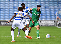 Football - 2019 / 2020 Sky Bet (EFL) Championship - Queens Park Rangers vs. Sheffield Wednesday<br /> <br /> Sheffield Wednesday's Massimo Luongo holds off the challenge from Queens Park Rangers' Olamide Shodipo, at Kiyan Prince Foundation Stadium (Loftus Road).<br /> <br /> COLORSPORT/ASHLEY WESTERN