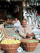 Shopkeeper at a market in Srinigar, Kashmir, India