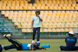 December 28, 2017 - Colombo, Western Province, Sri Lanka - Sri Lanka pace-men Lasith Malinga (C) walking into practices area with worrying face during the first practices session of Head Coach (Credit Image: © Sameera Peiris/Pacific Press via ZUMA Wire)
