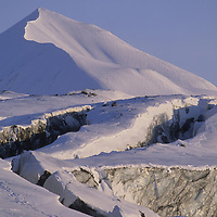 Seracs & crevasses on Ivory Glacier, above Agardh Valley.