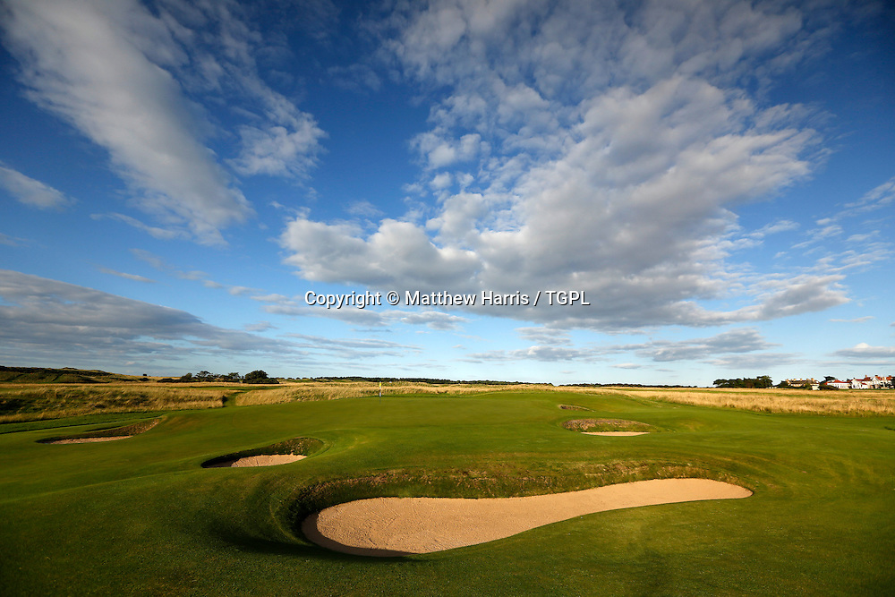 16th par 3 Muirfield,The Honourable Company Of Edinburgh Golfers,Gullane,East Lothian,Scotland.Venue for the 2013 Open Championship,with Ernie ELS (RSA) defending his title,and who was also the winner here in 2002.