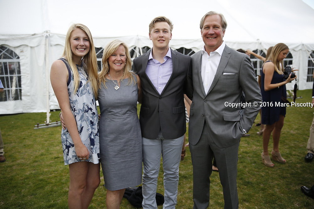 SHOT 6/1/16 6:21:31 PM - Colorado Academy Senior Class portrait in front of the Wellborn House and Class of 2016 Commencement Dinner at the Denver, Co. private school. (Photo by Marc Piscotty / © 2016)