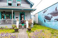 Audie Belew, housekeeper at the Starry Night Inn in Seaside, Oregon