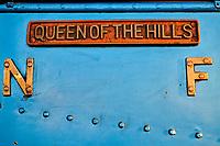 Inde, Bengale Occidental, Darjeeling, gare de Darjeeling, avec le célebre toy train du Darjeeling Himalayan Railway, Patrimoine Mondial de l'Unesco, nom de la locomotive // India, West Bengal, Darjeeling, train station for the toy train from Darjeeling Himalayan Railway, Unesco world Heritage, name of the engine