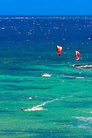 Kite surfing, Plage du Meridien (Anse Vata), Noumea, Grand Terre, New Caledonia