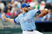 Kansas City Royals pitcher Wade Davis throws the ball in the first inning of a baseball game against the Chicago White Sox at Kauffman Stadium in Kansas City, Mo., Sunday, May 5, 2013.  (AP Photo/Colin E. Braley).