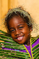 Kanak (Melanesian) girl, Hnathalo, Lifou (island), Loyalty Islands, New Caledonia