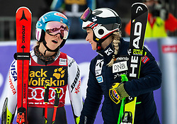 SHIFFRIN Mikaela of United States and MOWINCKEL Ragnhild of Norway during the 6th Ladies'  GiantSlalom at 55th Golden Fox - Maribor of Audi FIS Ski World Cup 2018/19, on February 1, 2019 in Pohorje, Maribor, Slovenia. Photo by Vid Ponikvar / Sportida