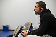 DALLAS, TX - MARCH 14:  Matt Brown relaxes backstage before his fight with Johny Hendricks during UFC 185 at the American Airlines Center on March 14, 2015 in Dallas, Texas. (Photo by Cooper Neill/Zuffa LLC/Zuffa LLC via Getty Images) *** Local Caption *** Matt Brown