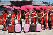Rizhao construction company Dongyi Town, photojournalism festival opening, Shandong, China
