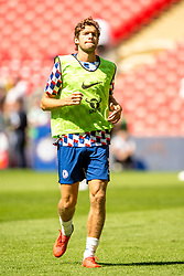 August 5, 2018 - Marcos Alonso of Chelsea during the 2018 FA Community Shield match between Chelsea and Manchester City at Wembley Stadium, London, England on 5 August 2018. Photo by Salvio Calabrese. (Credit Image: © AFP7 via ZUMA Wire)