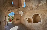 Pictures & images of interior cave rooms of Aynali Kilise (Church) a cave church complex, iconoclastic period (725-842), near Goreme, Cappadocia, Nevsehir, Turkey .<br /> <br /> If you prefer to buy from our ALAMY PHOTO LIBRARY  Collection visit : https://www.alamy.com/portfolio/paul-williams-funkystock/cappadociaturkey.html (TIP refine search - enter Aynali Kilise a into the LOWER search box)<br /> <br /> Visit our TURKEY PHOTO COLLECTIONS for more photos to download or buy as wall art prints https://funkystock.photoshelter.com/gallery-collection/3f-Pictures-of-Turkey-Turkey-Photos-Images-Fotos/C0000U.hJWkZxAbg