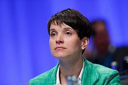 30.04.2016, Messe, Stuttgart, GER, 5. Bundesparteitag der AfD, im Bild Dr. Frauke Petry Vorsitzende der AFD // during the 5th party convention of the Alternative for Germany (AfD) at the Messe in Stuttgart, Germany on 2016/04/30. EXPA Pictures © 2016, PhotoCredit: EXPA/ Sammy Minkoff<br /> <br /> *****ATTENTION - OUT of GER*****