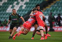 Rugby Union - 2019 / 2020 Gallagher Premiership - Northampton Saints v Sale Sharks - Franklin Gardens<br /> <br /> Northampton Saints' Lewis Ludlam is tackled by Sale Sharks' Daniel du Preez.<br /> <br /> COLORSPORT/ASHLEY WESTERN