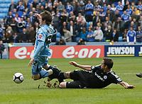Photo: Steve Bond/Richard Lane Photography.<br />Coventry City v Chelsea. FA Cup 6th Round. 07/03/2009. Frank Lampard (R) fouls Aron Gunnarsson (L)