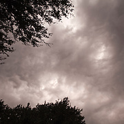 Storm clouds form over Orlando in Central Florida.