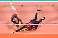 Dustin Watten, Daniel McDonnell USA.<br /> Torino 28-09-2018 Pala Alpitour <br /> FIVB Volleyball Men's World Championship <br /> Pallavolo Campionati del Mondo Uomini <br /> Third round<br /> Brasile - Usa / Brazil - USA<br /> Foto Antonietta Baldassarre / Insidefoto