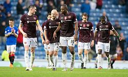 Hearts dejection after the Ladbrokes Scottish Premiership match at Ibrox Stadium, Glasgow.