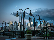 The view of Manhattan's skyline is from  Liberty State Park in Jersey City.