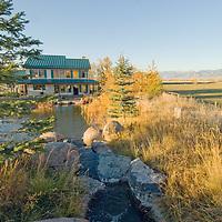 Lindy Adelmann's  land and home in Gallatin Valley, near Bozeman, Montana.