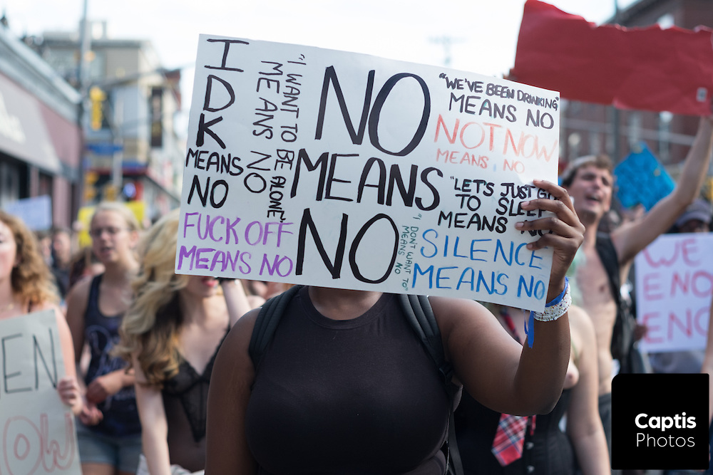 The annual Slut Walk protest in Ottawa to raise awareness for women's rights and fight sexism.