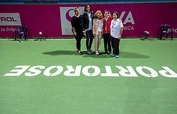 PORTOROZ, SLOVENIA - SEPTEMBER 19:  Staff with Katarina Srebotnik and Mima Jausovec after the Singles final during the WTA 250 Zavarovalnica Sava Portoroz at SRC Marina, on September 19, 2021 in Portoroz / Portorose, Slovenia. Photo by Vid Ponikvar / Sportida