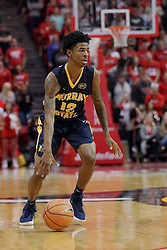 """09 December 2017:  Temetrius """"Ja"""" Morant during a College mens basketball game between the Murray State Racers and Illinois State Redbirds in  Redbird Arena, Normal IL"""