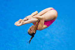 Eventual Winner Tania Cagnotto of Italy in action in the Womens 1m Springboard Final - Photo mandatory by-line: Rogan Thomson/JMP - 07966 386802 - 20/08/2014 - SPORT - DIVING - Berlin, Germany - SSE im Europa-Sportpark - 32nd LEN European Swimming Championships 2014 - Day 8.
