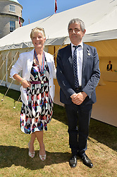 Countess of March and Rowan Atkinson at the Cartier Style et Luxe at the Goodwood Festival of Speed, Goodwood, West Sussex, England. 2 July 2017.<br /> Photo by Dominic O'Neill/SilverHub 0203 174 1069 sales@silverhubmedia.com