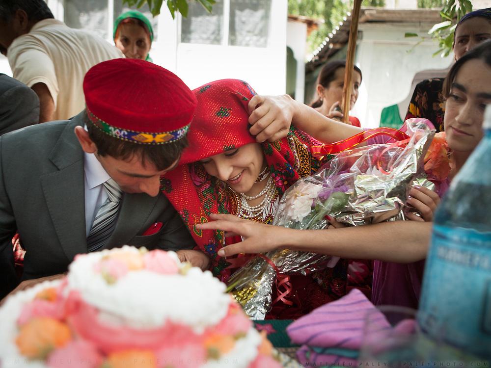 Pamiri wedding of Said Ulloh (from Khorog) and Sitora (from Barsem village in Ghund valley). Khorog town.