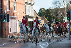 The Cottesmore Hunt meet for their traditional Boxing Day Meet at Cutts Close in Oakham, Rutland, UK, 26th December 2012. Photo by Nico Morgan / i-Images.