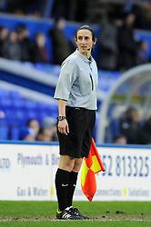 Assistant Referee, Amy Fearn - Photo mandatory by-line: Dougie Allward/JMP - Tel: Mobile: 07966 386802 18/01/2014 - SPORT - FOOTBALL - St Andrew's Stadium - Birmingham - Birmingham City v Yeovil Town - Sky Bet Championship
