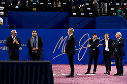 February 11, 2018 - Montpellier, France, France - Philippe Saurel - Maire de Montplellier et president de l agglomeration.Kamel Chibli - Vice president de la Region Occitanie / Pyreenees Mediterranee (Credit Image: © Panoramic via ZUMA Press)