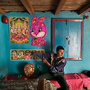 A teenage boy's room decoration in the Himalaya.