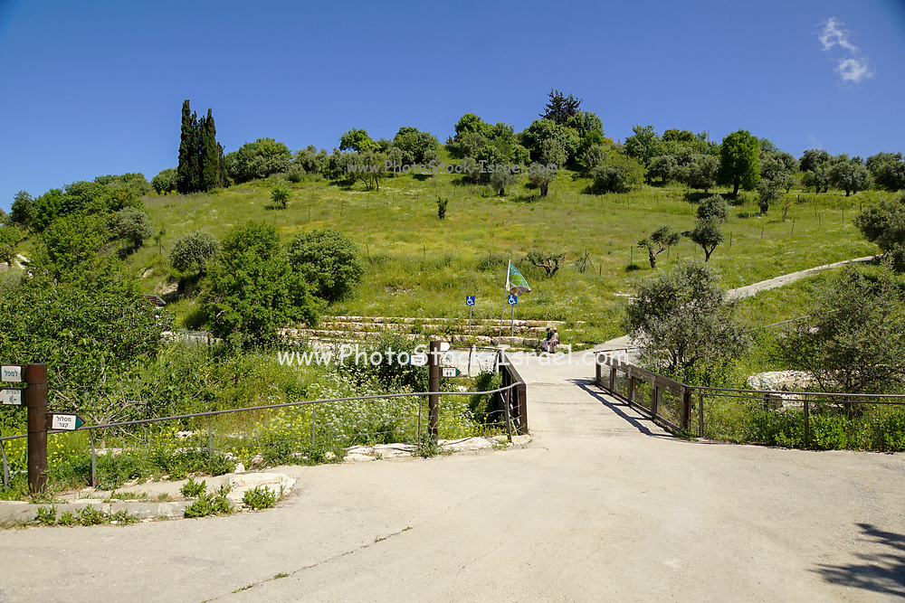 Emek HaTehelet (also HaTchelet) Lit Blue Valley is a JNF-Tzfat park that's located right outside of the city of Safed (Tzfat), Galilee, Israel