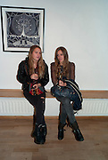 ANNA HESKETH; VIOLET HESKETH, Lulu Guinness And Rob Ryan Fan Bag - Launch Party. Air Gallery. London. 10 November 2010.  -DO NOT ARCHIVE-© Copyright Photograph by Dafydd Jones. 248 Clapham Rd. London SW9 0PZ. Tel 0207 820 0771. www.dafjones.com.