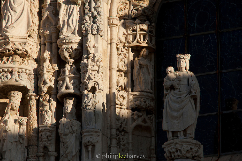 A detail of the great Jeronimos Monastery, a UNESCO World Heritage Site in Lisbon, Portugal