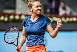 May 11, 2017 - Madrid, Madrid, Spain - SIMONA HALEP (ROU) celebrates her victory over Coco Vandeweghe (USA) in the quarter-final of the 'Mutua Madrid Open' 2017. Halep won 6:1, 6:1 (Credit Image: © Matthias Oesterle via ZUMA Wire)