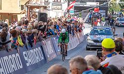 26.09.2018, Innsbruck, AUT, UCI Straßenrad WM 2018, Einzelzeitfahren, Elite, Herren, von Rattenberg nach Innsbruck (54,2 km), im Bild Nicolas Roche (IRL) // Nicolas Roche of Ireland in the town Rattenberg during the men's individual time trial from Rattenberg to Innsbruck (54,2 km) of the UCI Road World Championships 2018. Innsbruck, Austria on 2018/09/26. EXPA Pictures © 2018, PhotoCredit: EXPA/ Reinhard Eisenbauer