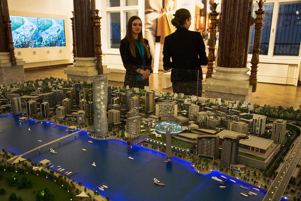 "Model of new ""Belgrade on Water"" project.<br /> <br /> Savamala neighborhood of Belgrade, Serbia."