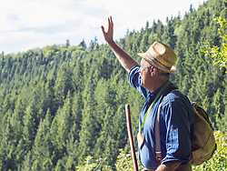 Senior man in Middle Black Forest Baden-Wuerttemberg, Germany