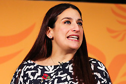 © Licensed to London News Pictures. 05/11/2019. London, UK. Liberal Democrats MP for Liverpool Wavertree LUCIANA BERGER  speaks during the launch of Liberal Democrat general election campaign in Westminster. A general election will be held on 12 December 2019. Photo credit: Dinendra Haria/LNP